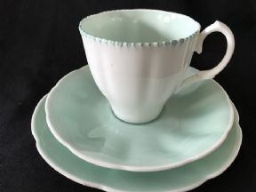 Lovely harlequin style trio -minty green - Unknown maker